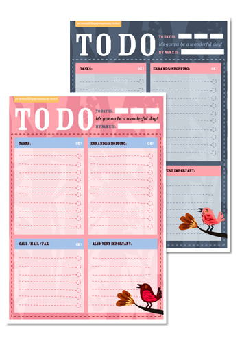 free printable to do list la vie toni